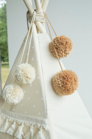 Tan Pom Poms - Tipi Tent Toppers