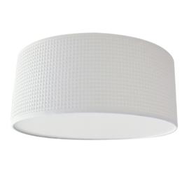 Plafondlamp wafelstof White