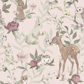 Woodland -Roze-Behang