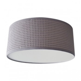 Plafondlamp wafelstof Powder Grey