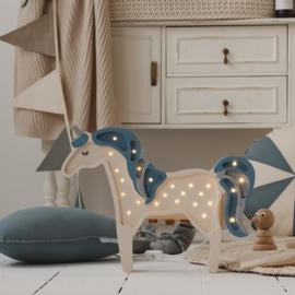 Little Lights Unicorn Glitter Denim Blue