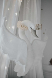 Swan, Linen & Lace - Cream