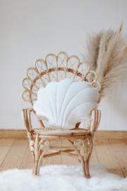 Velvet sierkussen schelp, 'White Pearl' -MoiMili
