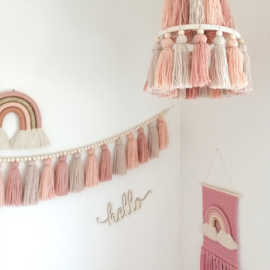 Tassel mobile-Blush