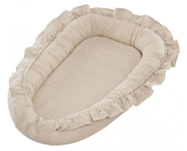 Cotton & Sweets babynestje Pure Nature with Ruffles-Natural