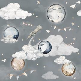 'Magic Planets ' Behang