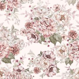 "Wallpaper ""Flowers"" - Dreamy Pink & Peony"