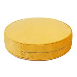 Yellow Velvet pouf- Large