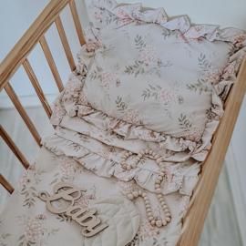 Bohemian Roses met frills, bedding set  -100 x 135cm, 40 x 60cm