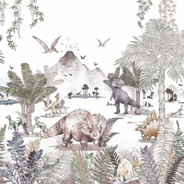 Dino World- Behang