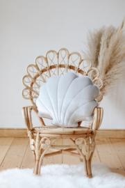 Velvet sierkussen schelp, 'Silver Pearl' -MoiMili