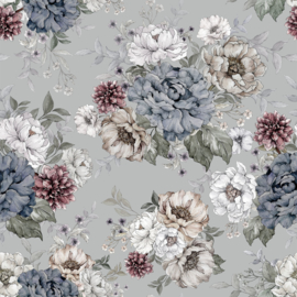 Wallpaper Flowers - Dreamy Gray & Green - Unisex