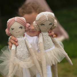 Ballerina Lace Doll- Beige/Blond