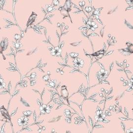 Spring-Roze Behang
