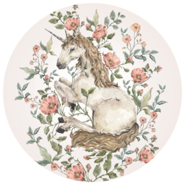 Wandsticker Unicorn in a Circle