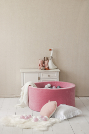 Ballenbad Soft Velvet 90x40 cm - Raspberry Pink