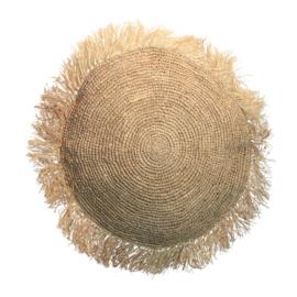 The Raffia Cushion Round Natural- Maat L