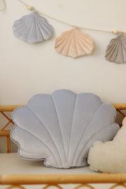 Velvet sierkussen schelp, 'Blue Pearl' -MoiMili