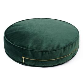 Green Velvet pouf- Large