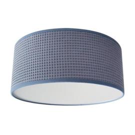 Plafondlamp wafelstof Old Blue