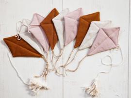 Garlande Vliegers- Dusty Pink, Natural & Cinnamon