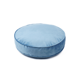 Blue Velvet pouf