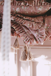Retro Pink Flowers  -75 x 100cm, 30 x 40cm- Sprei set
