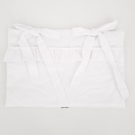 Boxzak / organizer- White with frills
