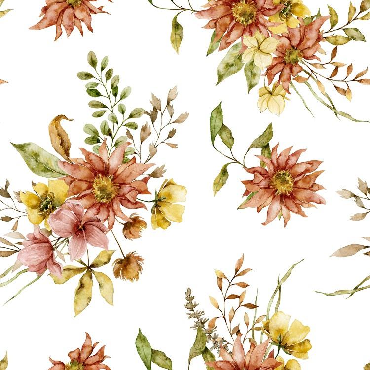 Behang Summer Flowers- 2 rollen