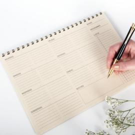 MOOI eco planner | A4 | weekplanner