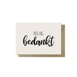 Minikaartje | Heel erg bedankt