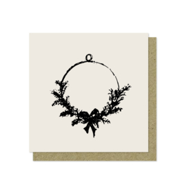 Luxe wenskaart | Kerst | Krans