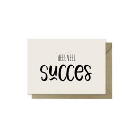 Minikaartje | Heel veel succes