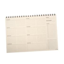 MOOI eco weekplanner | half jaar | 25 pagina's