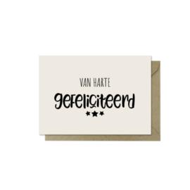 Minikaartje | Van harte gefeliciteerd