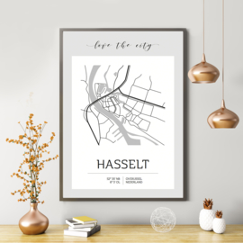 Poster B2 | Love the City | Hasselt