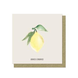 Luxe wenskaart | Zoentje citroentje