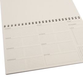 MOOI eco weekplanner  | 52 pagina's
