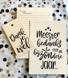 Cadeautje voor meester | pakketje