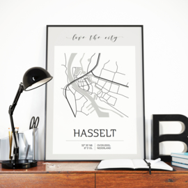 Poster A3 | Love the City | Hasselt