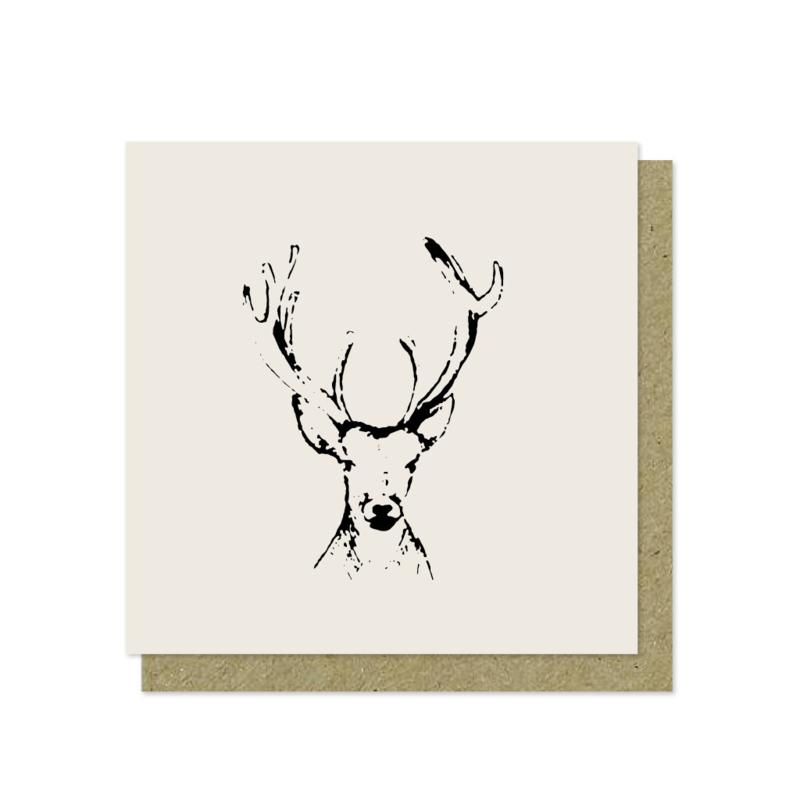 Luxe wenskaart   Kerst   Oh my deer