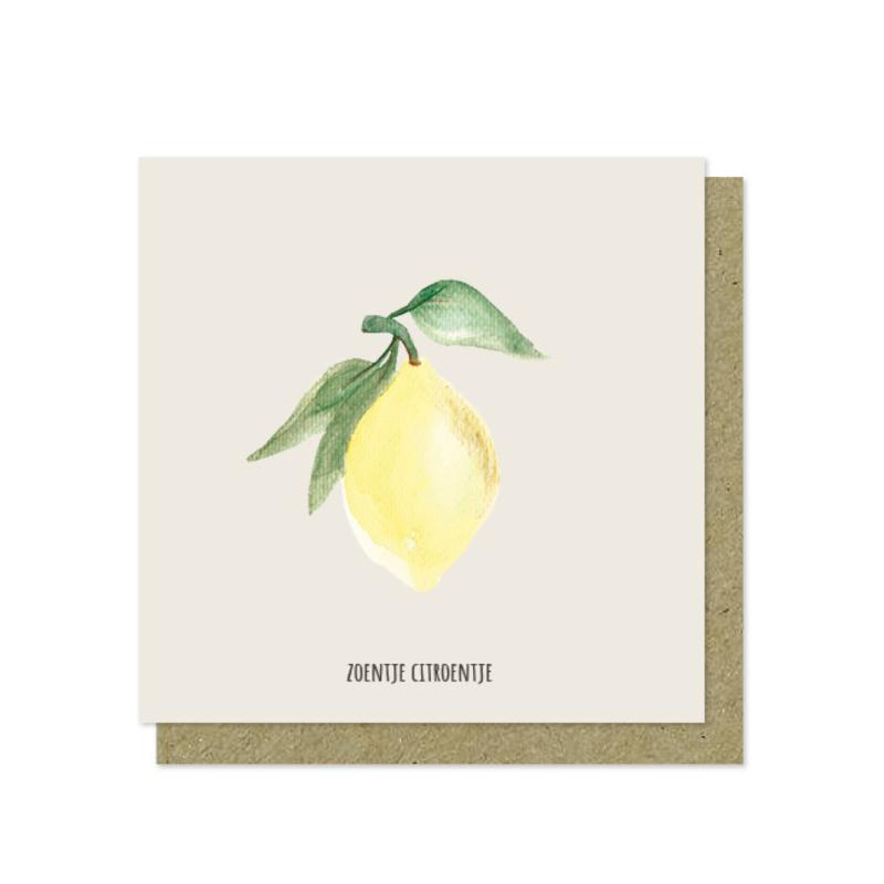 Luxe wenskaart   Zoentje citroentje