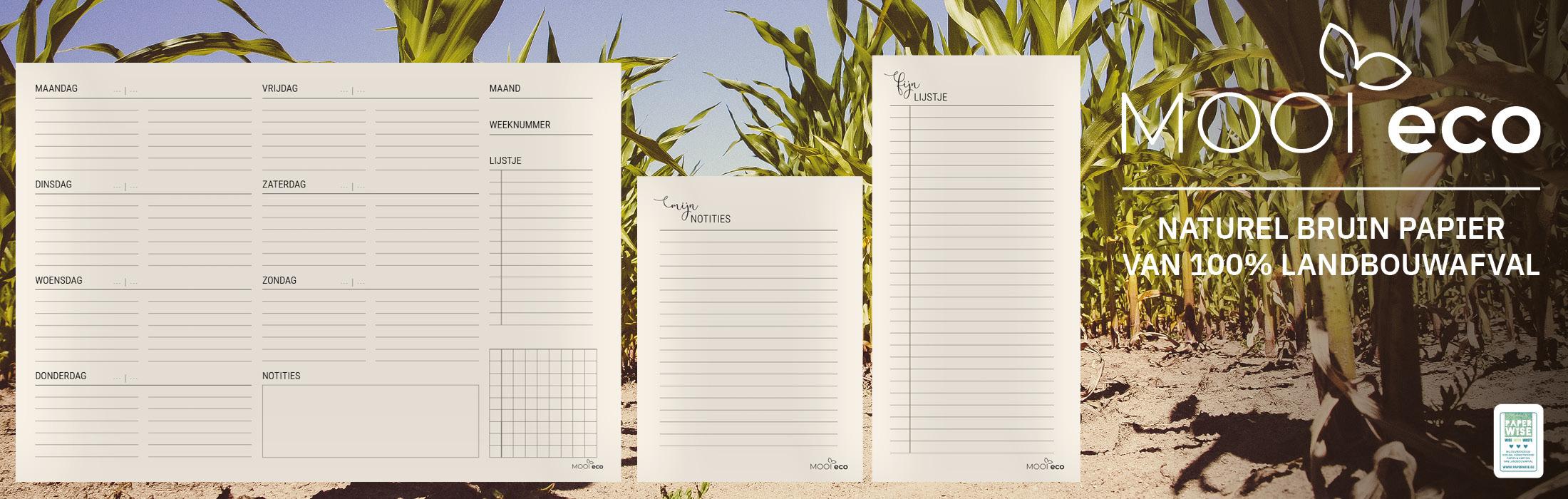 Mooi Eco | papier van 100% landbouwafval