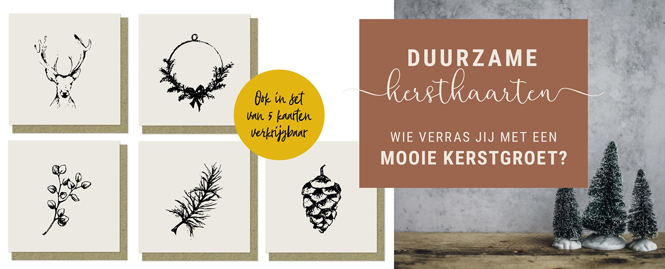 Kerst / duurzaam / kaarten / cadeaulabels / wenskaarten
