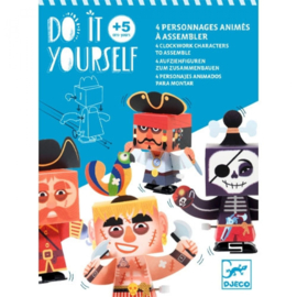 Djeco - Do it yourself - Opwindbare figuren - Piraten