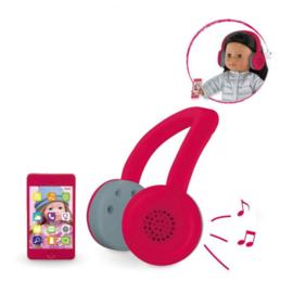 Ma Corolle - Fancy koptelefoon & hippe gsm