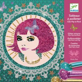 Djeco - Glitterschilderijen - Cleo pop & rock
