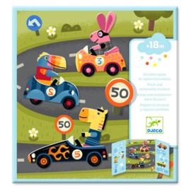Djeco - Stickers - Auto's