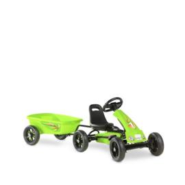 EXIT - Foxy Green Gokart met aanhangwagen