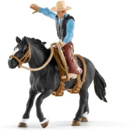 Western cowboy in het zadel
